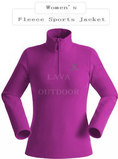 Very Low Price Free Shiping Thermal Breathable Perspiration WindProof AntiStatic Lightweight Women's Winter Sports Fleece Jacket(China (Mainland))