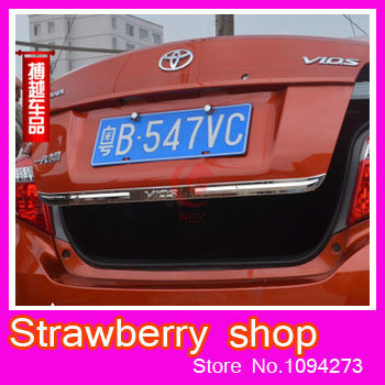 New 2014 toyota Vios stern door trim Article on the trunk trim Stainless steel decoration Modified special car styling<br><br>Aliexpress
