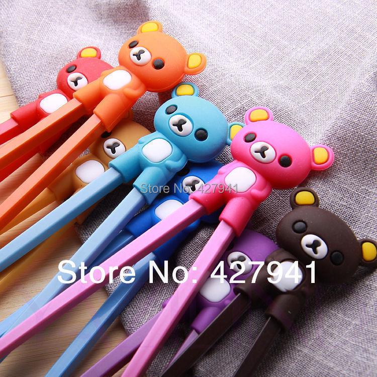 new 2015 pretty cute raccoon children chopsticks gift(China (Mainland))