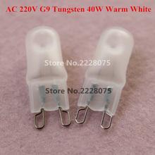 Super Bright G9 Glass Halogen Lamp Light Bulb 40w Halogen G9 AC 220V 2800-3200K Warm White Indoor Dimmable Halogen G9 Lamp(China (Mainland))