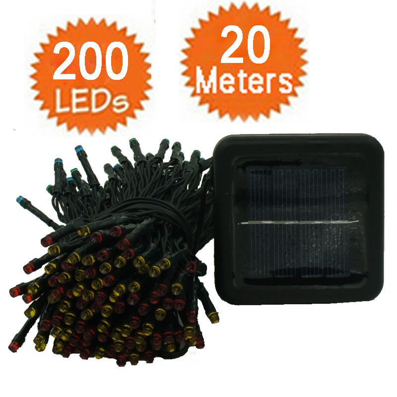 Outdoor solar light 200 led 20 meters garden party - Lamparas solares de led ...