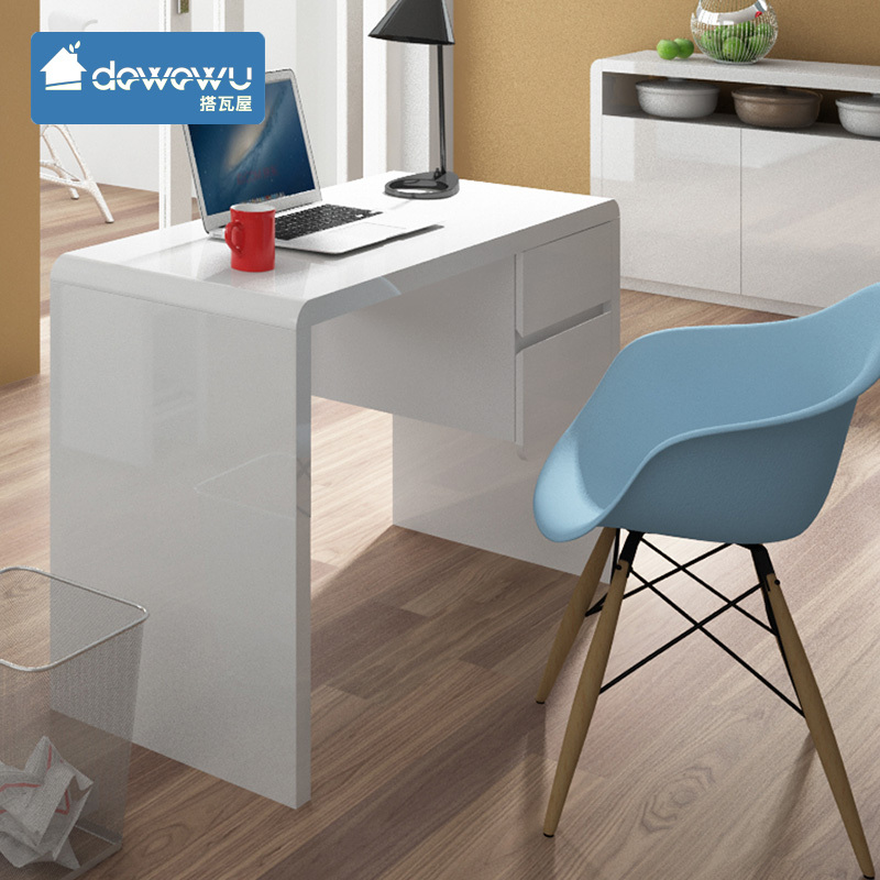 Modern white corner computer desk for home joy studio design gallery best design - Ikea furniture for small spaces minimalist ...