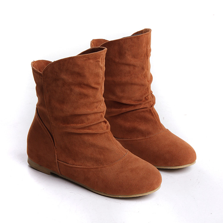 Flat Brown Boots For Women