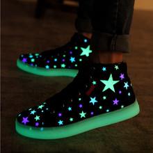 2015 горячих людей свободного покроя хип-топ из светодиодов кроссовки флуоресцентный из светодиодов обувь единственным световой светящийся кроссовки любители мужские ботинки холстины женщин