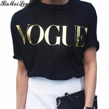 Summer Fashion Brand Designer T Shirt Women VOGUE Printed Leisure Shirt Women Tops Loose Large Size Tee Shirt Hot Sale Blusa(China (Mainland))