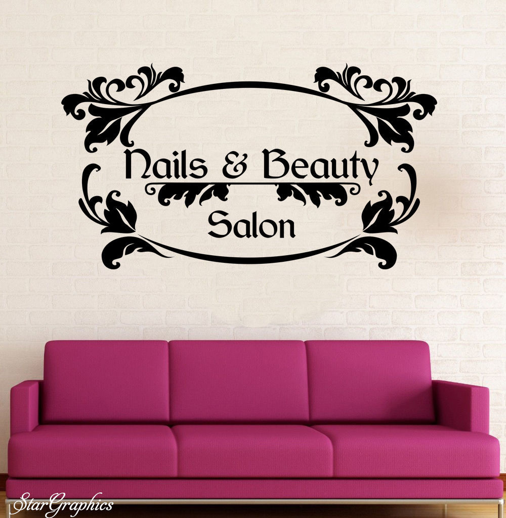 Nails-Beauty-Salon-Vinyl-Wall-Decal-Hair-Beauty-Salon-Nail-Salon ...