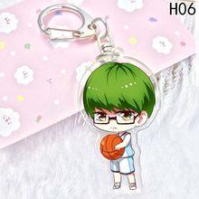 Kuroko لا سلة سلسلة مفاتيح مصنوعة من الأكريليك قلادة مفتاح السيارة الملحقات لطيف اليابانية الكرتون Kuroko كرة السلة(China)