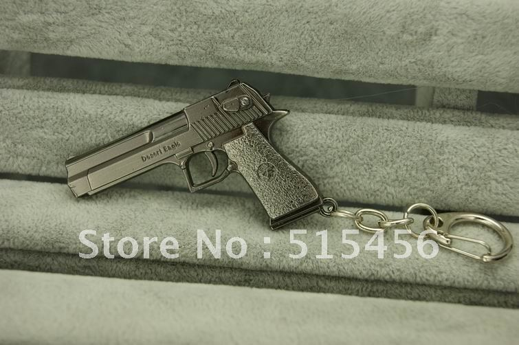 Mini Pistol Desert Eagle Cross Fire Hand Gun Keychain Metal Modern Weapon Keys Ring Coolest CF/CS Gift - Flower Army store
