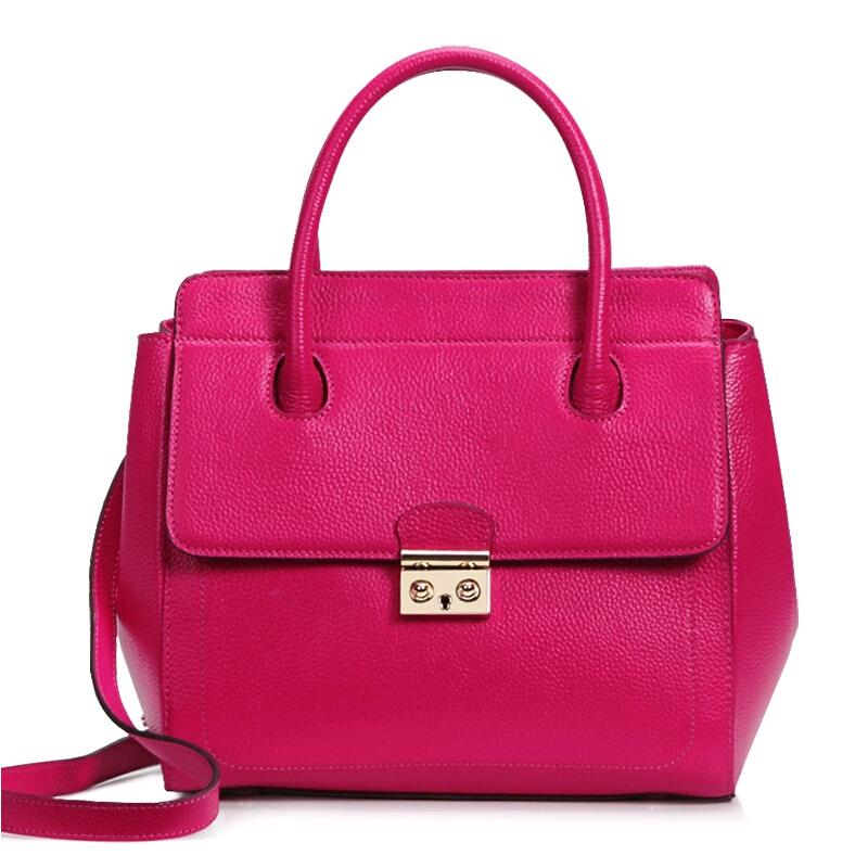 2015 Famous Brand Women Bag Qiwang High Quality Genuine Leather Fashion Women Handbags Women Solid Cover Messenger Bags<br><br>Aliexpress