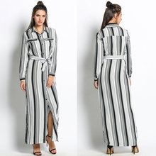 Buy 2017 Plus Lace Clothes Party Beach Casual Slit Side Striped Women'S Size Dresses Maxi Long Shirt Clothing Women Dress for $14.73 in AliExpress store