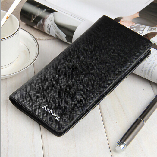 New Style Korean Version Men Clutch Bag Business Fashion High Grade PU Leather Men Long Wallet