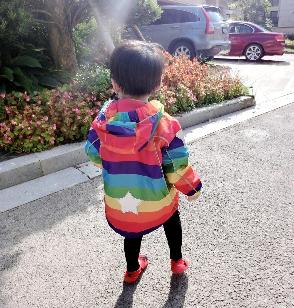Kids Fleece Jackets Boys Hoodie Windbreaker Children Colorful Windproof Trench Coat For Girls Outwear Blazer Autumn Raincoat