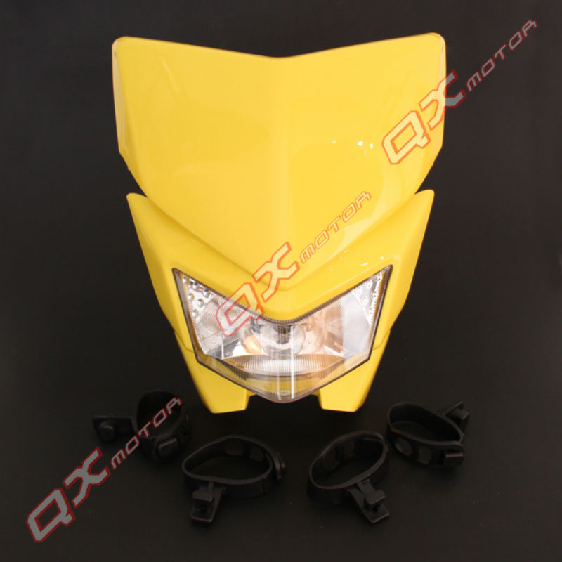 Head Light Fairing Motorcycle Sport Lamp Street Fighter for KLX Kayo Apollo Bosuer Xmotos Dirt Bike MX Motocross Motorcycle(China (Mainland))