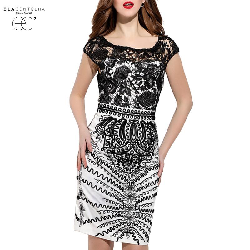 ElaCentelha Brand Dress Women Summer European And American Lace Embroidery Hollow Out Short Sleeve Empire Mini New Dress DressesОдежда и ак�е��уары<br><br><br>Aliexpress
