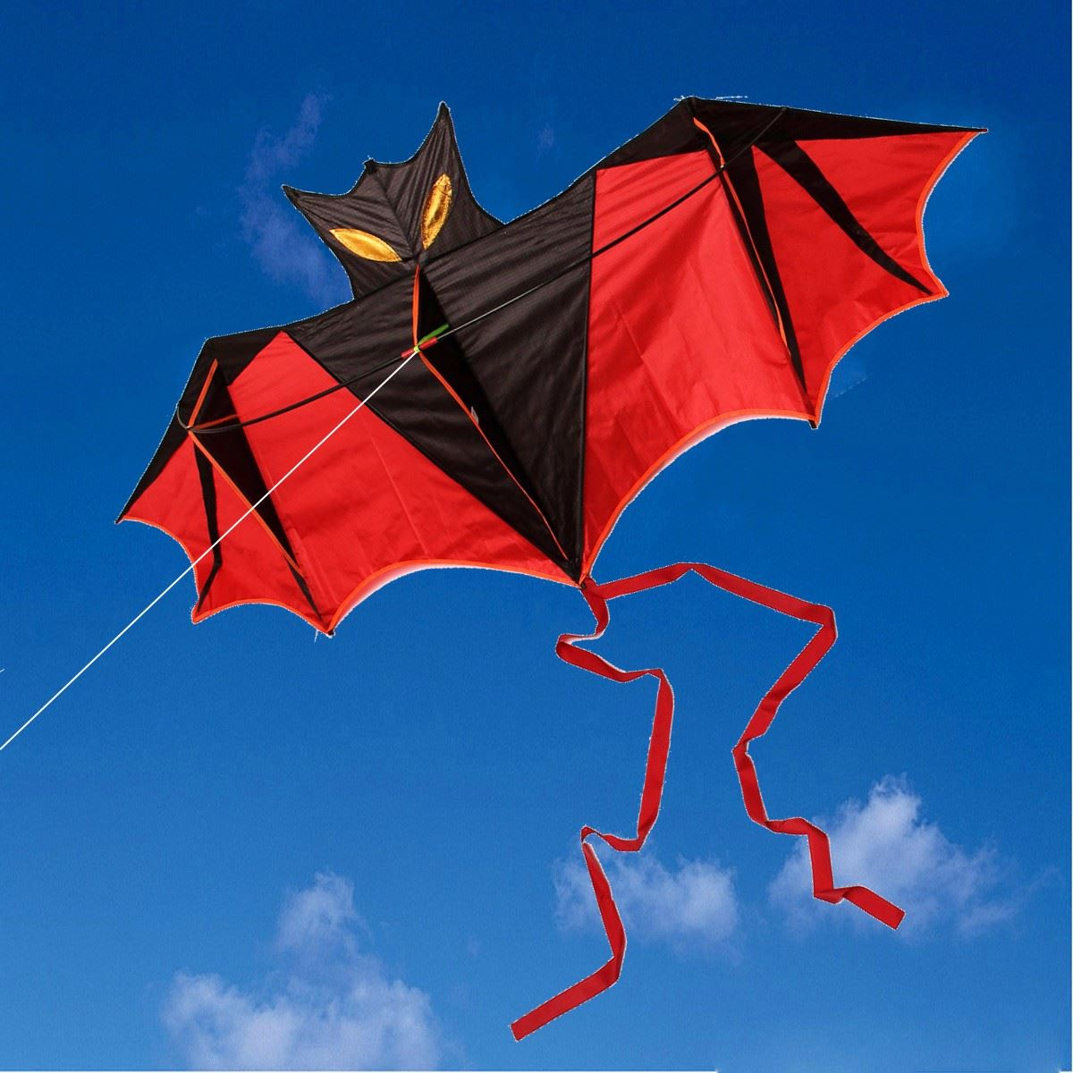 1.8m New Bat Windsock Kite Easy To Fly Outdoor fun Sports Children's toy With Handles Lines(China (Mainland))