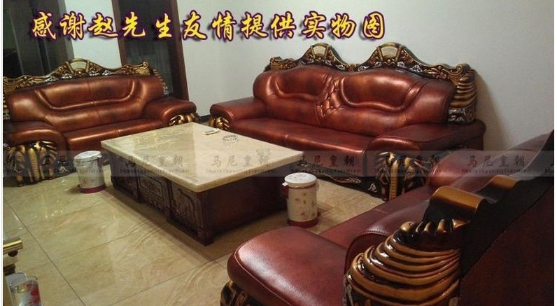 Free Shipping Luruxy Genuine Leather Home Furniture Living Room Furniture Living Room Sets