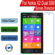 Quality Clear Matte Nano Soft Explosion-proof Screen Protector Guard Film Nokia X2 RM-1013 X2DS 4.3 inch Tempered Glass - so easy store