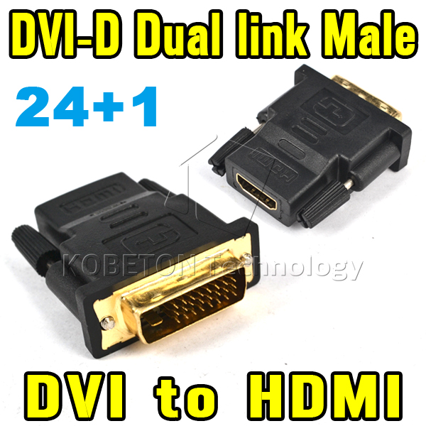 2016 Hot Sale 1080P DVI 24+1 Male To HDMI Female Adapter Converter V1.4 DVI-D Dual Link For Xbox360/One For PS3 For PS4 HDTV(China (Mainland))