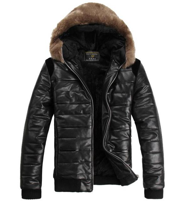 Пуховик хлопок капюшон, мужчины в зима утолщение флис тепловой ватные куртки свободного ...