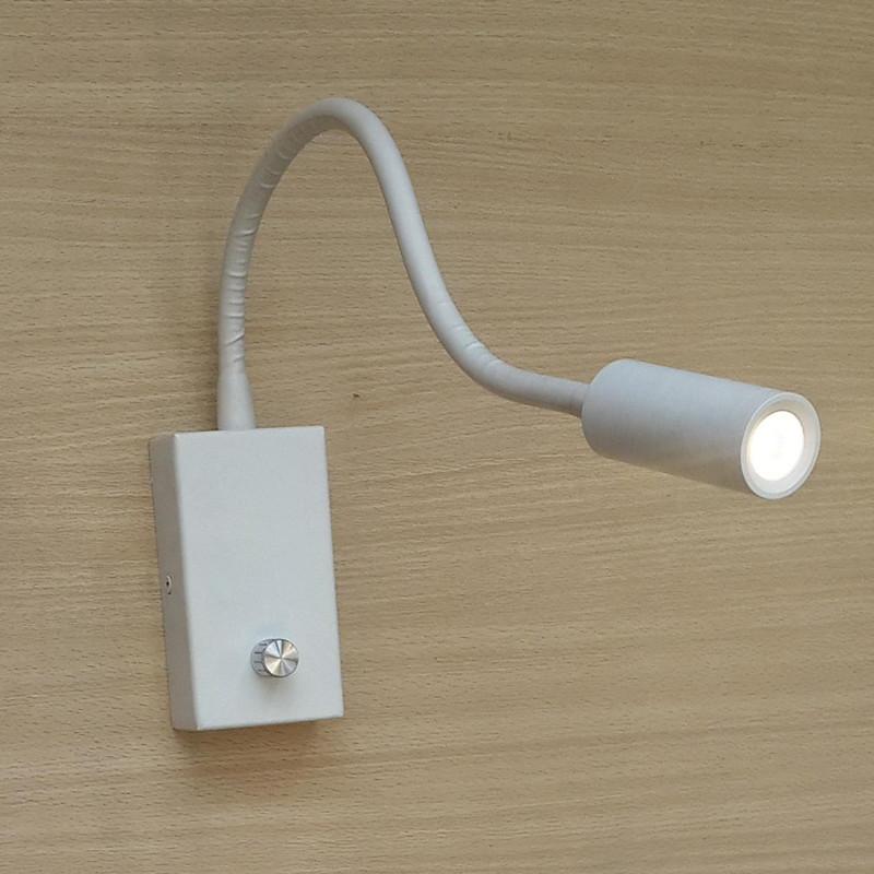 Universal volts Bed LED Lights Matte white 3Watts 200LM Brightness 15%-100% Knob switch Comfortable light and energy saving(China (Mainland))