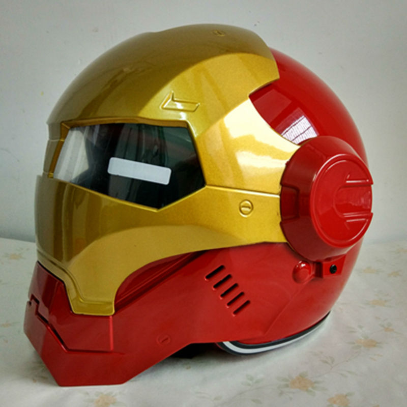 MASEI IRONMAN Iron Man helmet motorcycle helmet half helmet open face helmet casque motocross red 610 M L XL free shipping(China (Mainland))