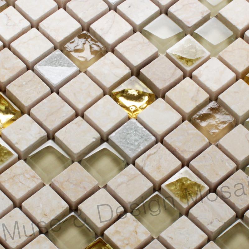 Glass ceiling tiles