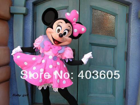 2013 ! EVA Material Minnie Mascot Costume Mouse Pink Adult Size Fancy Dress Suit Fan & Helmet - Shenzhen Childlike Cartoon Costumes Factory store