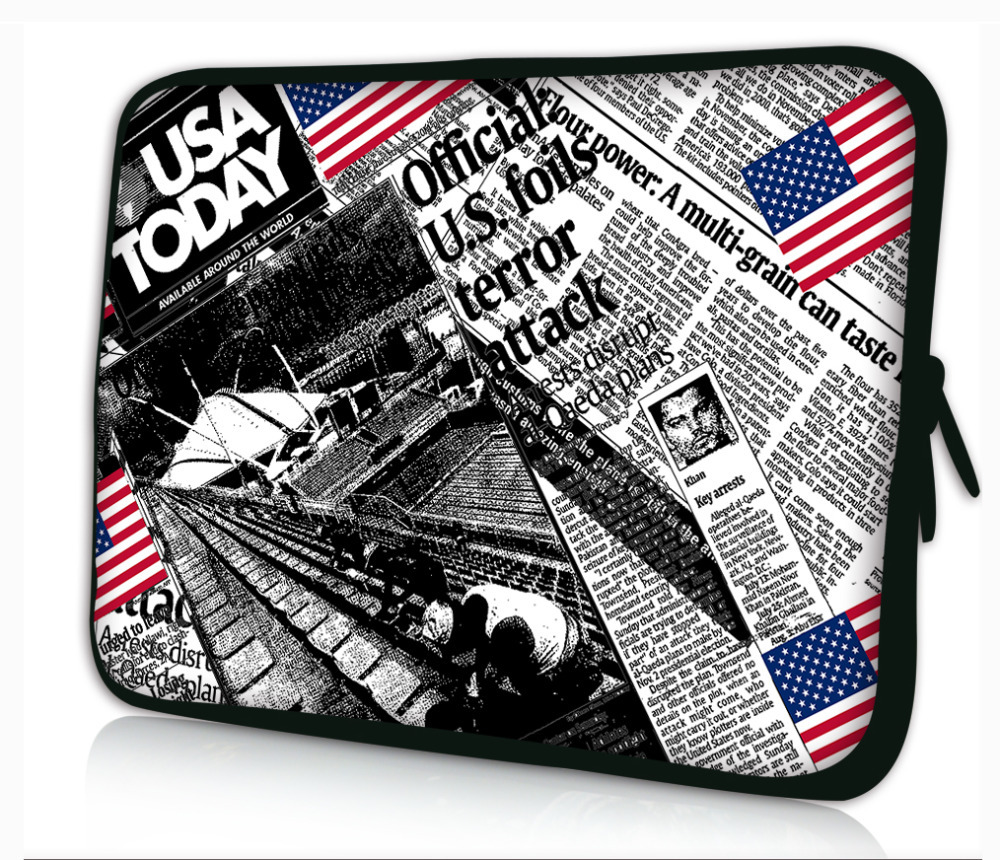 """Fashion Paper Pattern Soft Neoprene Sleeve Bag Pouch Dust Proof For 7""""- 8.2"""" Android Tablet PC PDA E-book(China (Mainland))"""