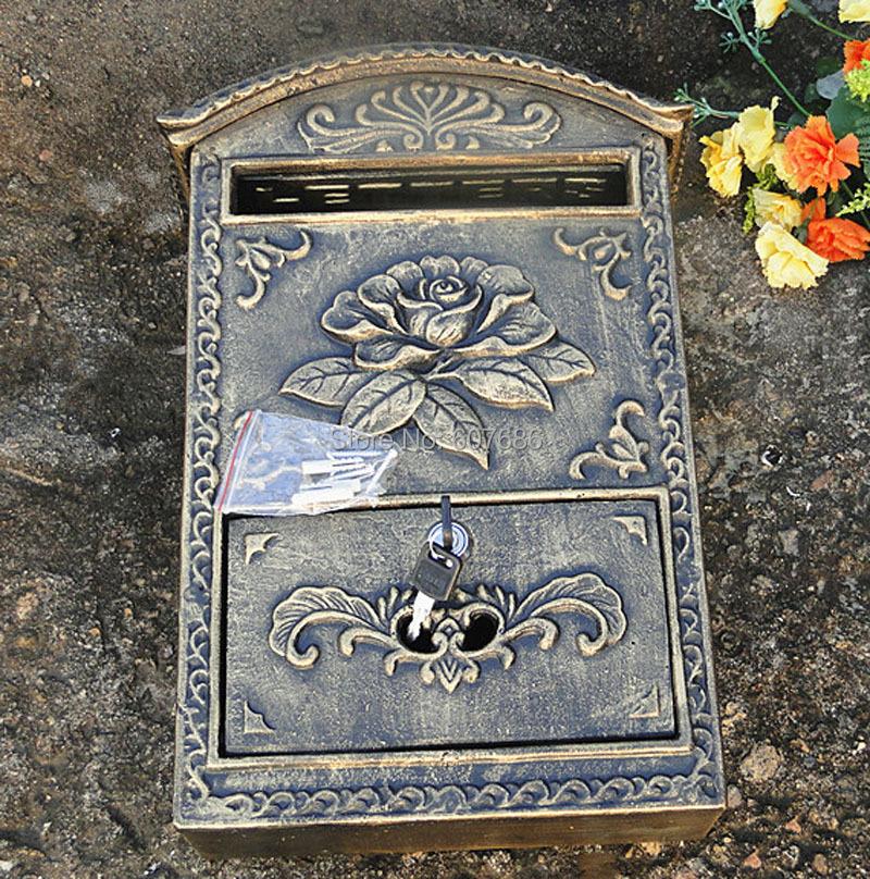 Aliexpress.com : Buy Cast Aluminum Flower Mailbox Embossed