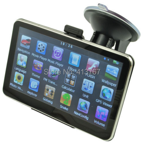 5 Inch Auto Car GPS Navigation Sat Nav 4GB 2015 New Map WinCE 6.0 FM Multi-languages(China (Mainland))