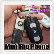 Mini Car Key Flip Cell Phone  X6 Car Key Style Mini Phone Kids Student Cell Phone With Bluetooth FM MP3 Radio Free Shipping(China (Mainland))