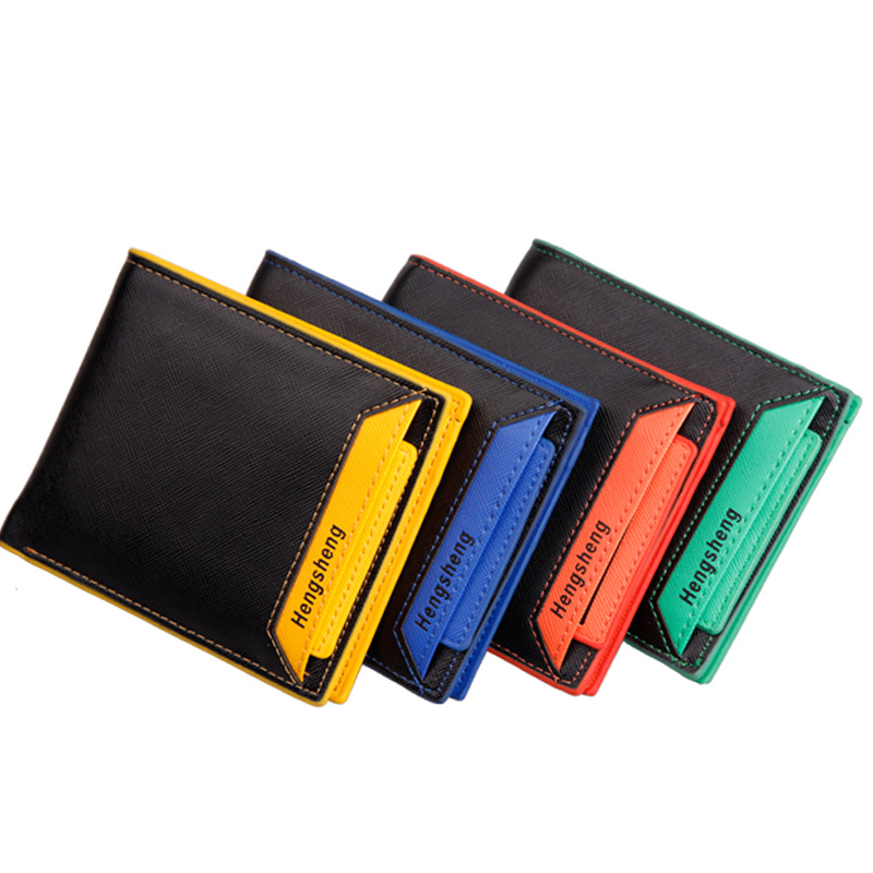 New Arrival Men Wallets Hit Colot Patchwork Money Purse Bifold New Design Removable Card Holders Male Short Wallet Free Shipping<br><br>Aliexpress