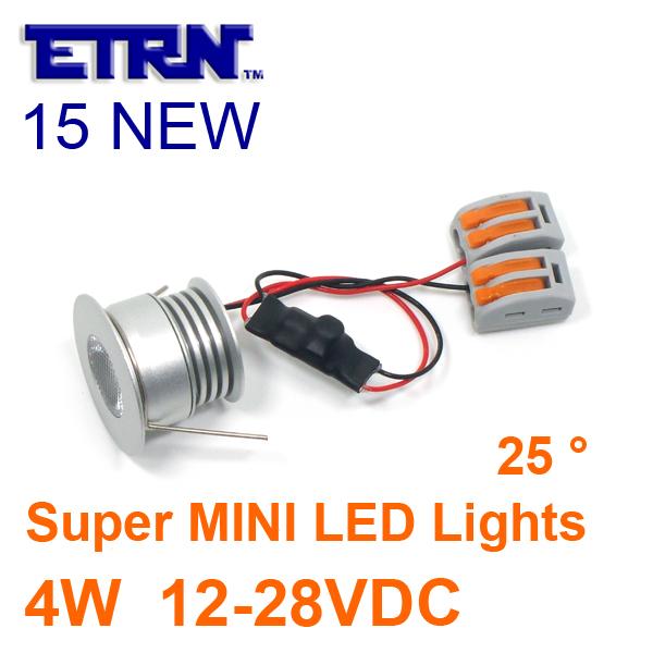 ETRN Brand 2015 NEW Super MINI 4W LED Lights Downlights DC 12V 24V Sharp COB LED Recessed lights 6piece/lot Free Shipping(China (Mainland))