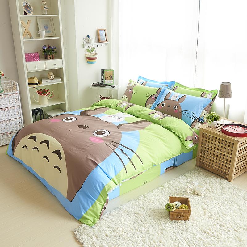 totoro bedding sets cartoon paw patrol kids bedding set sponge bobsheep - Spongebob Bedroom Set