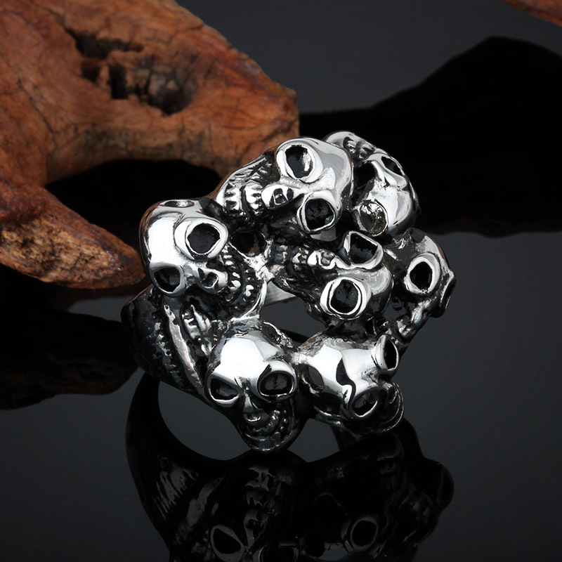 Good Quality Gig Size Skull Rings stainless steel jewelry Punk Men - LCC Fashion Jewelry & Accessory store