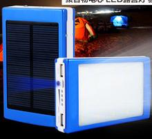outdoor lighting Large Capacity 14000 mah Solar External Battery Pack + LED Camp Light 14000MAH Mobile PowerBank for iphone