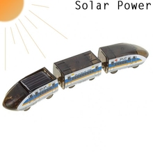 Solar Powered Train Educational DIY Kit Cool Bullet Train Running under the Sun(China (Mainland))