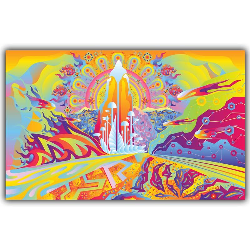 Peinture chambre couleurs promotion achetez des peinture chambre couleurs promotionnels sur - Decoration chambre psychedelique ...
