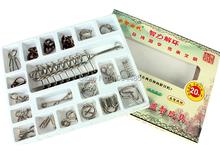 Grupos de 20 unids Metal clásico rompecabezas IQ magia alambre Puzzle rompecabezas desenredo Puzzles para adultos y niños caja de regalo de embalaje