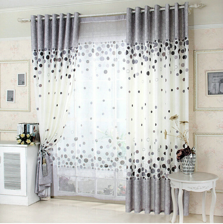 New Arrival Blue Window Curtain For Living Room Blackout