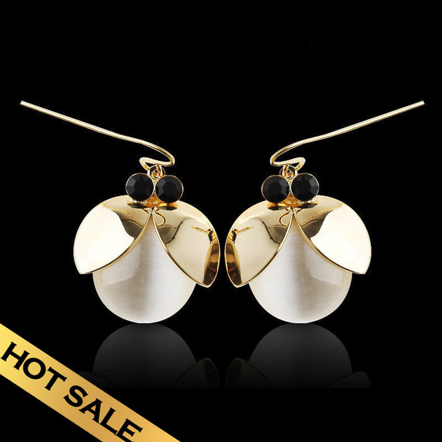 Special Drop Earrings Synthetic Opal Vintage Classic Handmade Design Lovely Firefly Hot Sale Free Shipping Jewelry EHA04A11