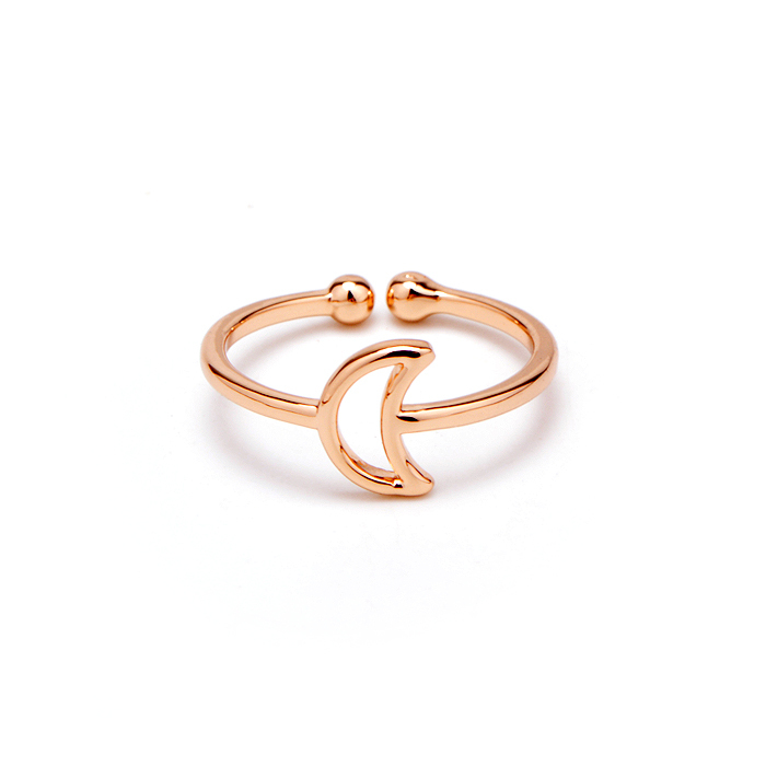 Aliexpress Buy 2015 new design simple small crescent wedding ring made