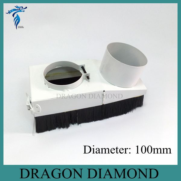 CNC Router Accessories Dust collector Cover cnc 3kw spindle motor dust collector device D100mm(China (Mainland))