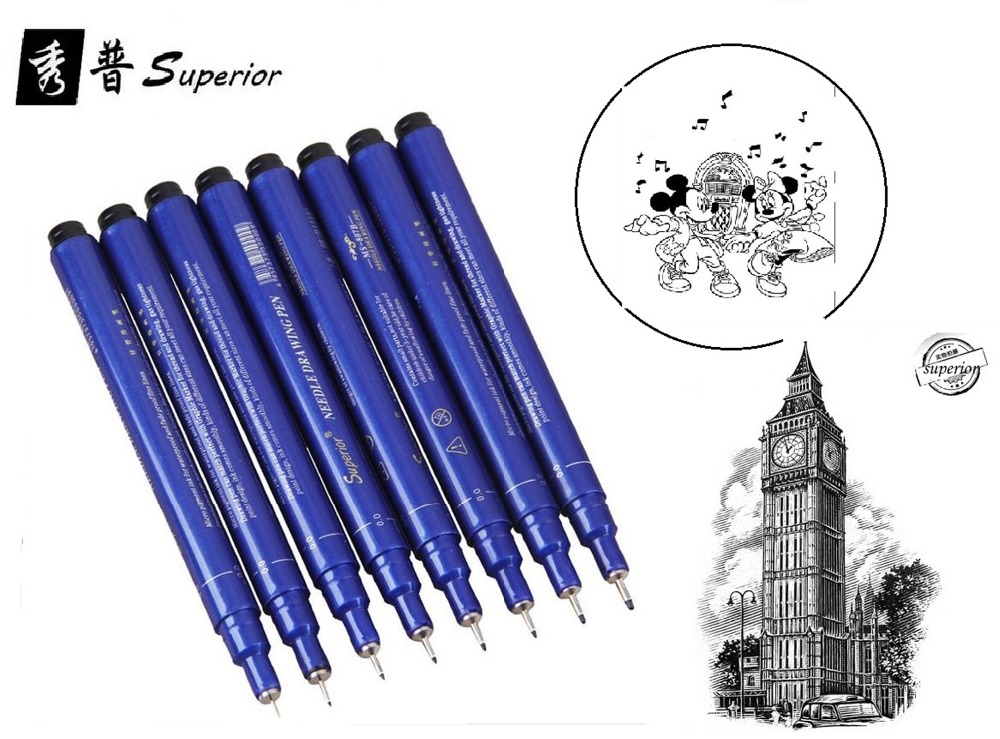 Line Art Pens : Sets of pens cartoon pen line drawing