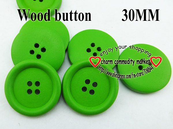 15pcs 30MM GREEN CARVING WOODEN ROUND BUTTON KIDS BUTTONS MCB-838-1(China (Mainland))