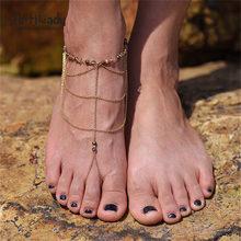 Artilady 石ビーズバングルブレスレットに脚自由奔放に生きる女性のアンクルブーツ脚チェーンジュエリー(China)