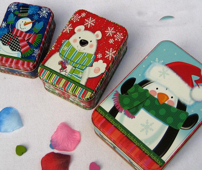 3pcs/set Christmas Style Tin Box Metal Storage Box Jewelry Case Candy Box food box(China (Mainland))