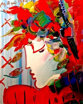 PETER MAX Oil Painting-BLUSHING BEAUTY POP ART,24*30inch,C647 [Colorful Life]