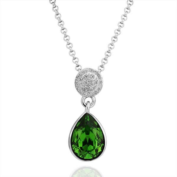 wholesale 18K gold plated pendant necklace health jewelry nickel free Fine necklaces Zircon SWA(China (Mainland))