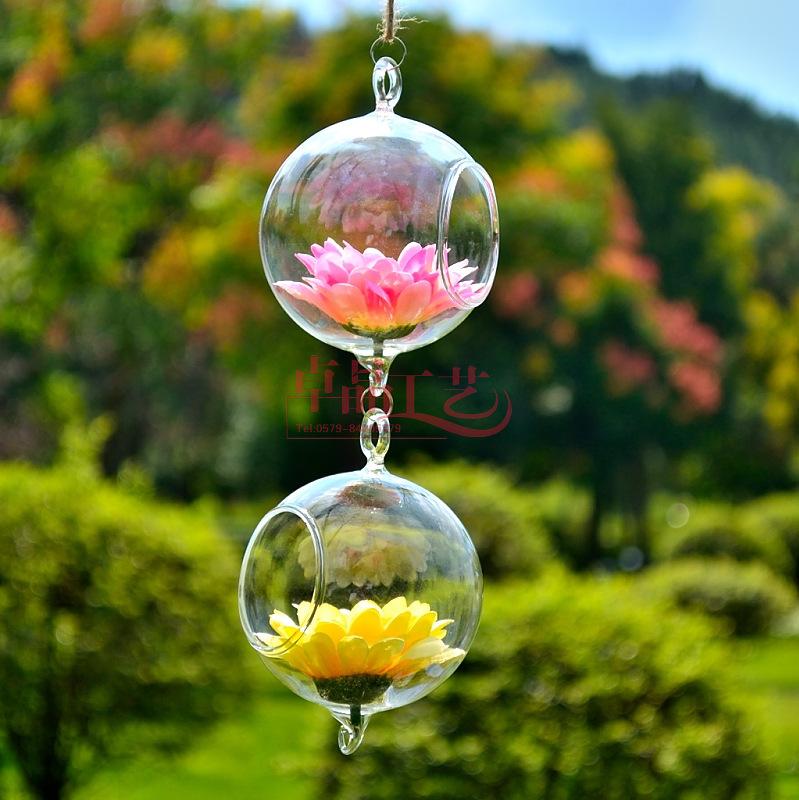 Free EMS Shipping! 40pcs/ Lot Hanging Crystal Vase Glass Balls Terrarium Vases Wedding Decoration  -  Miss Darcy's Fashion Store store